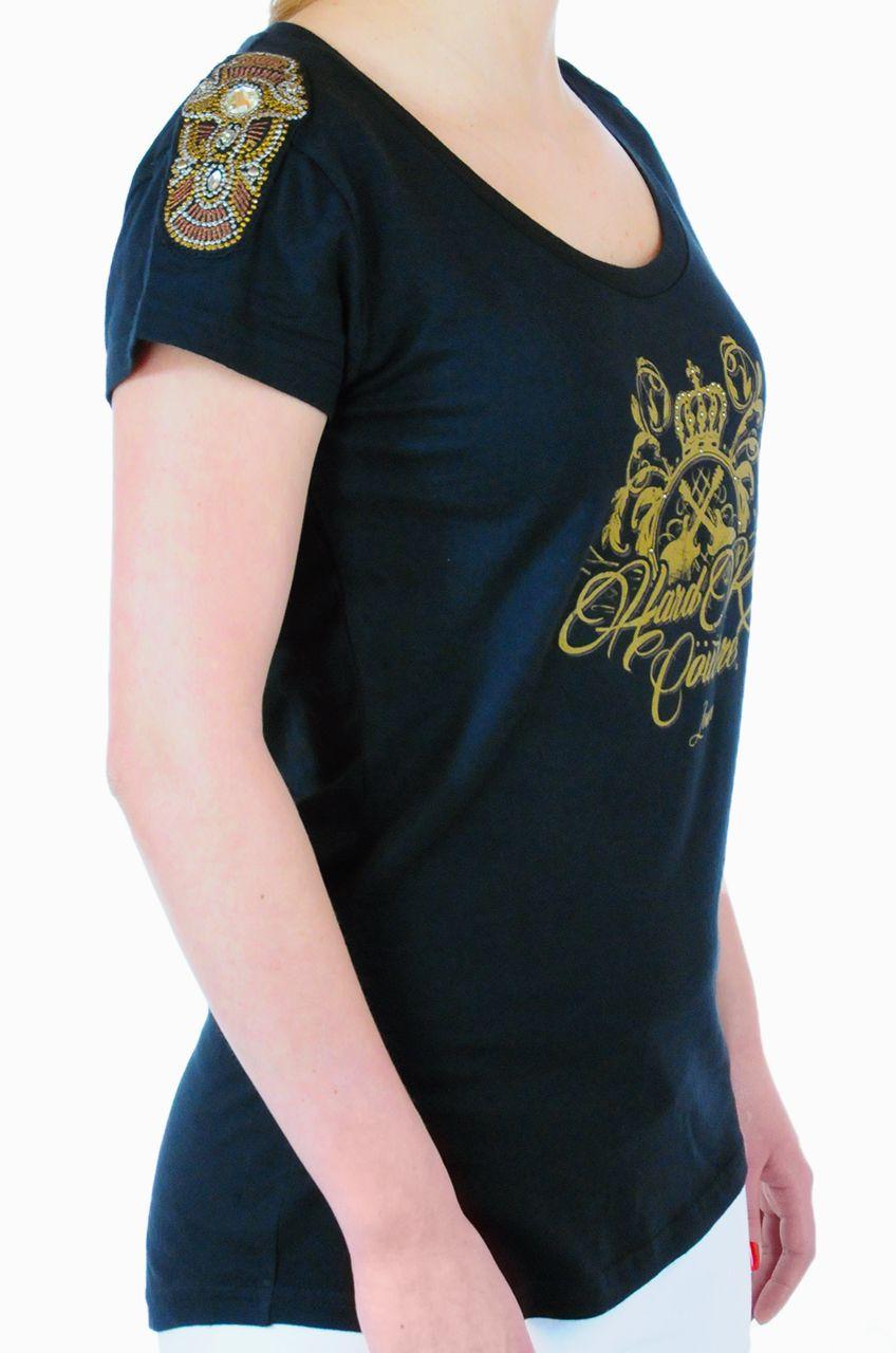 Брендовая женская футболка Hard Rock® London - КОЛЛЕКИЯ COUTURE - вид сбоку