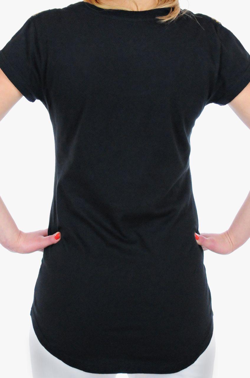 Брендовая женская футболка Hard Rock® London - КОЛЛЕКИЯ COUTURE - вид сзади
