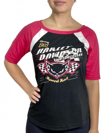 Брендовая женская футболка Harley-Davidson