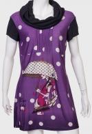 Купить брендовое платье с красивым принтом от LE GPENIER