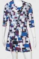 Брендовое платье с нестандартным принтом-абстракцией