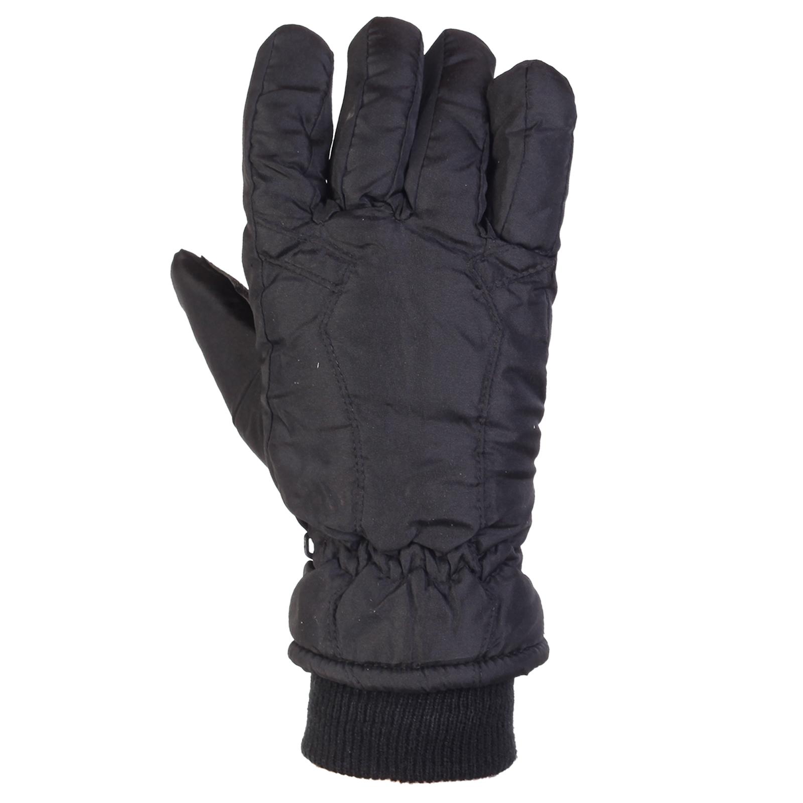Купить черные мужские перчатки на зиму