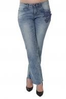 Брендовые женские джинсы Sheego с аппликацией.
