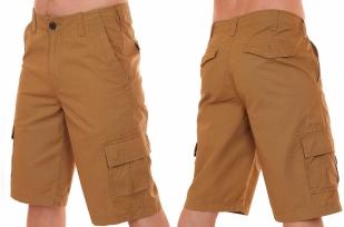 Брендовые мужские шорты хаки-песок от бренда Urban