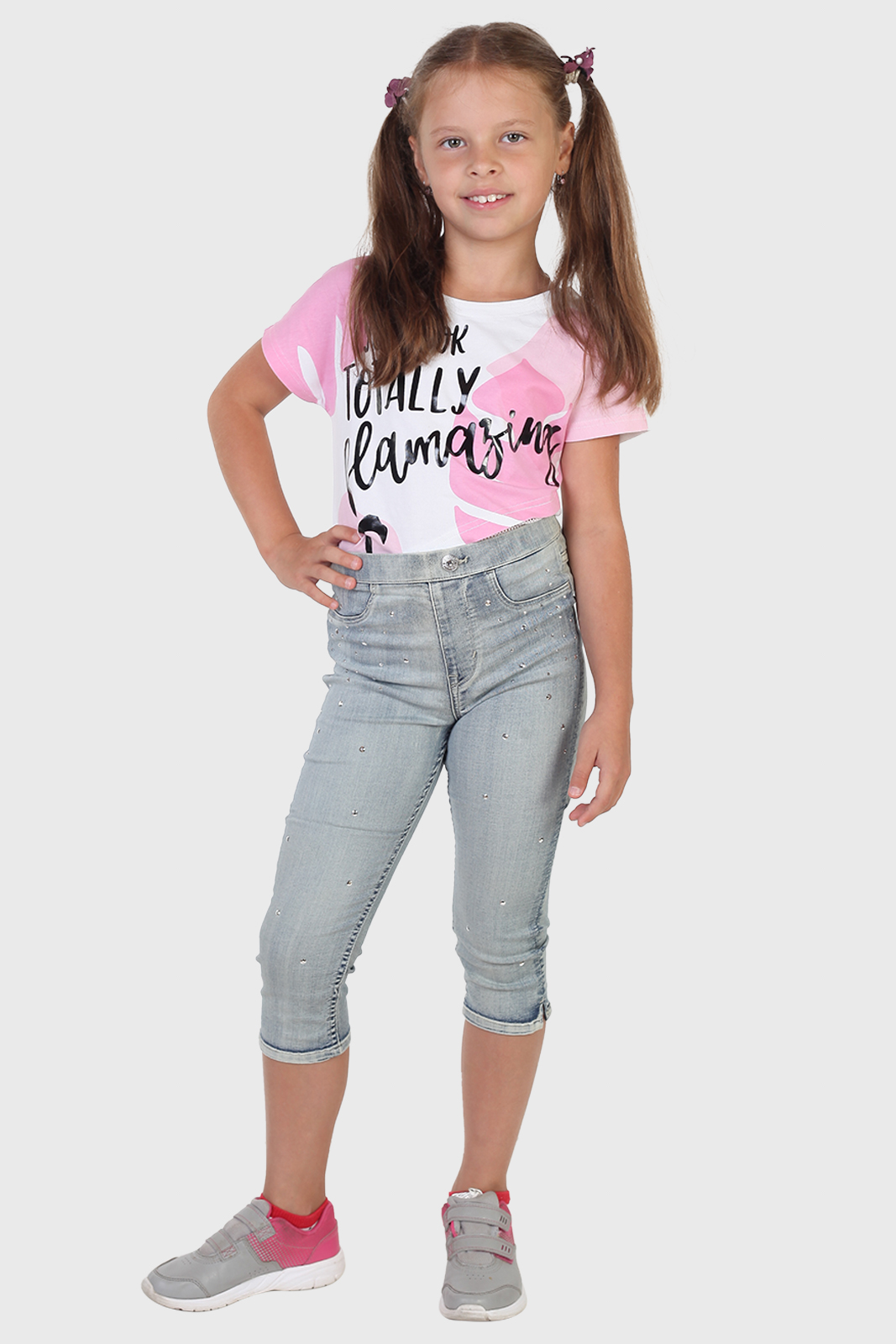 Красивые бриджи для девочки из джинса