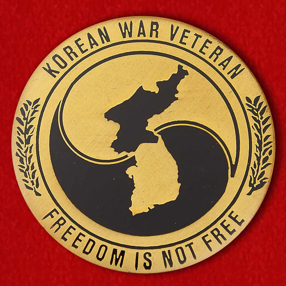 Veterans of the Korean War Challenge Coin