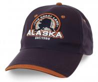 Брутальная бейсболка Alaska - мужские практичные цвета, дизайнерская нашивка