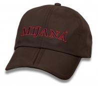 Брутальная коричневая бейсболка Mijana