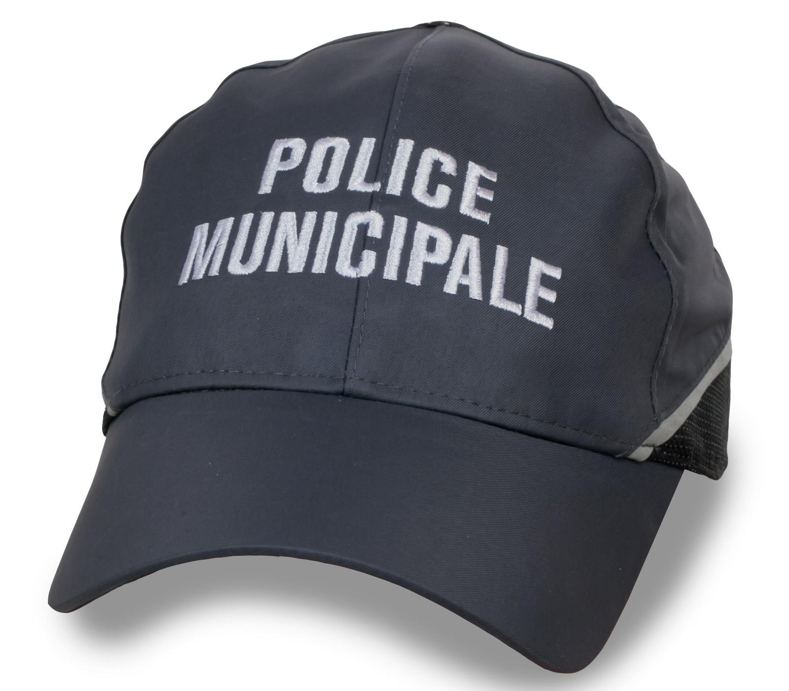 Брутальная мужская кепка с надписью Police Munisipale