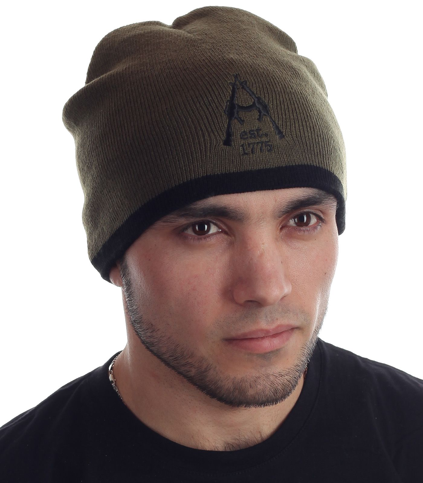 Брутальная мужская шапка хаки