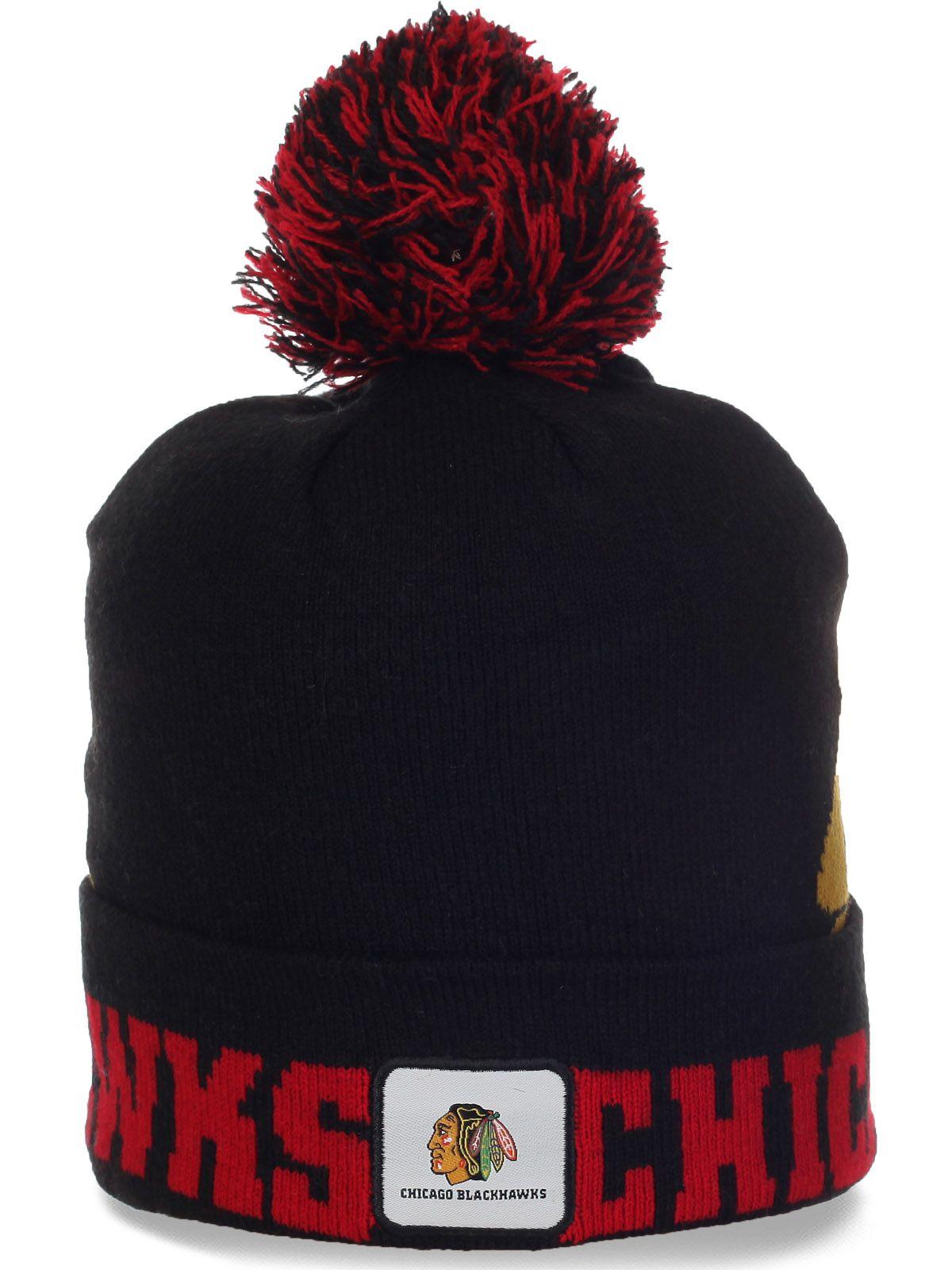Брутальная шапка фанатов Chicago Blackhawks