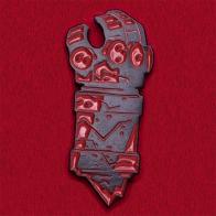 """Брутальный значок """"Кровавая перчатка"""""""