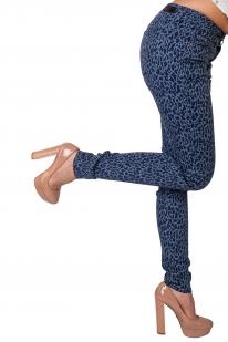 Узкие женские брюки-леопард от ТМ Pieces.