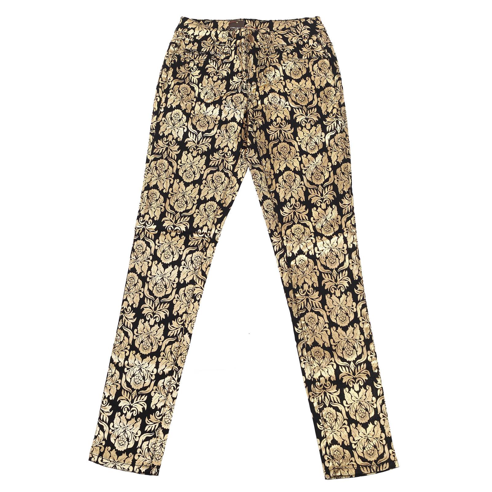 Модные женские брюки Pieces с узорами.