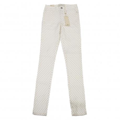 Белые женские брюки Pieces в горошек.