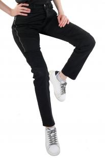 Молодежные женские брюки с молниями