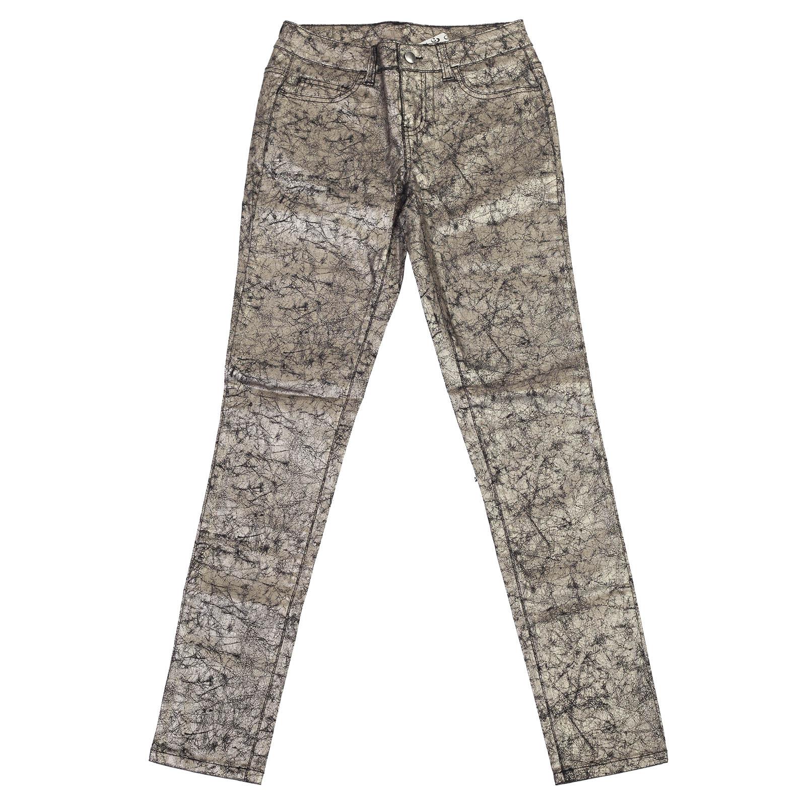 Шик от Pieces! Гламурные женские брюки с серебристым отливом.