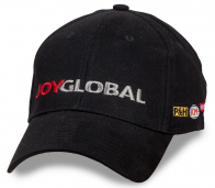 БУДЬ ЛУЧШЕ УЖЕ СЕГОДНЯ! Черная бейсболка JoyGlobal. Четкий дизайн, эффектный стиль, уникальная надпись. Ты в теме? Заказывай!