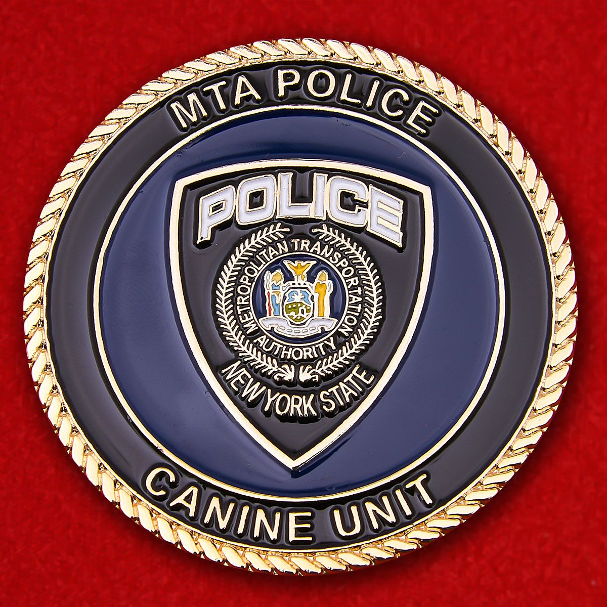 Canine Service Transport Police Department of New York Challenge Coin