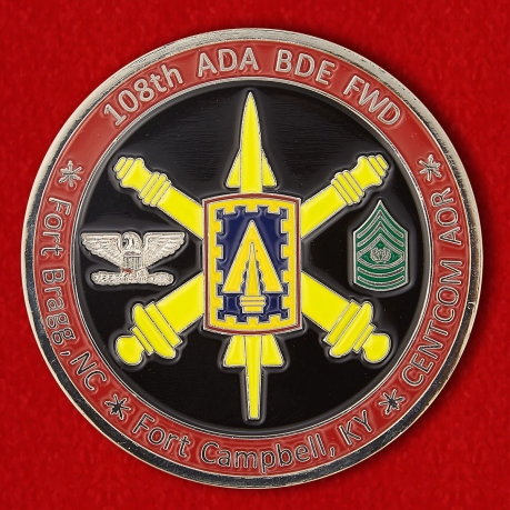 "Challenge Coin ""108th Air Defense Artillery Brigade"""