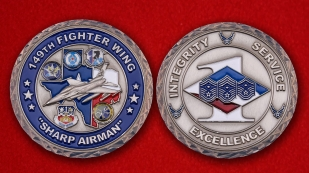 Challenge Coin 149 th Fighter Wing - obverse and reverse