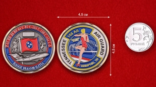 Challenge Coin 155 Squadron Air Transport - comparative size