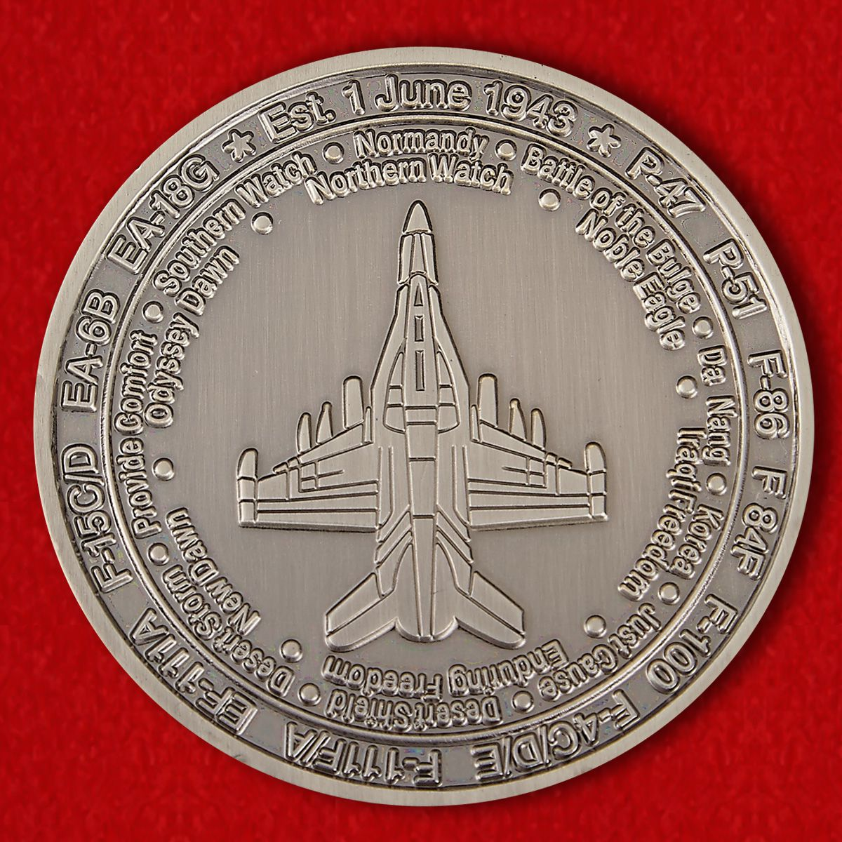 "Challenge Coin ""390th Electronic Combat Squadron"""