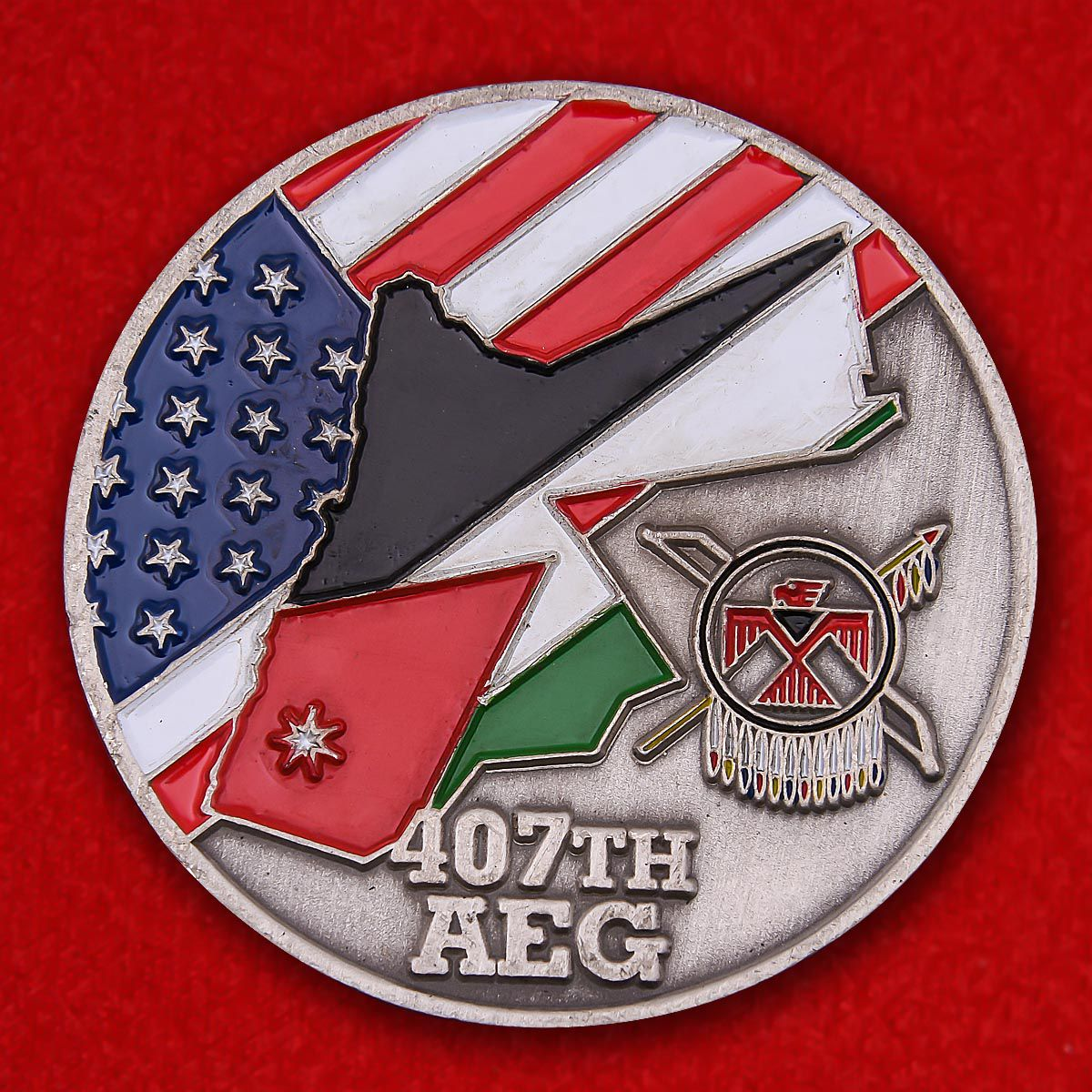 Challenge Coin 407th Expeditionary Air Group, the US Air Force