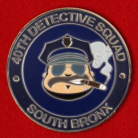 "Challenge Coin ""40th Detective squad South Bronx"""