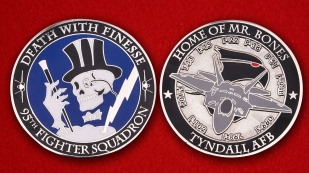 "Challenge Coin ""95th Fighter Squadron"" - obverse and reverse"