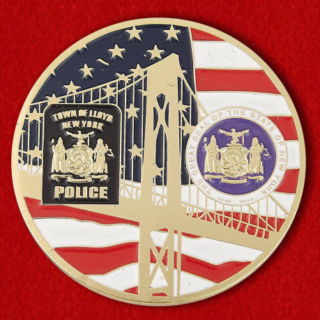 Challenge coin chief of the Police Department Lloyd