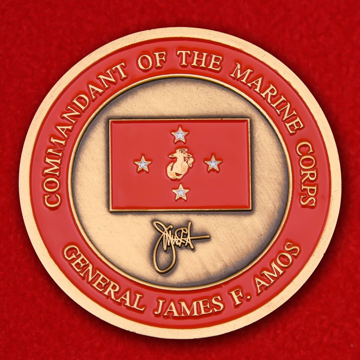 "Challenge Coin ""Commander of the Marine Corps General James F. Amos"""