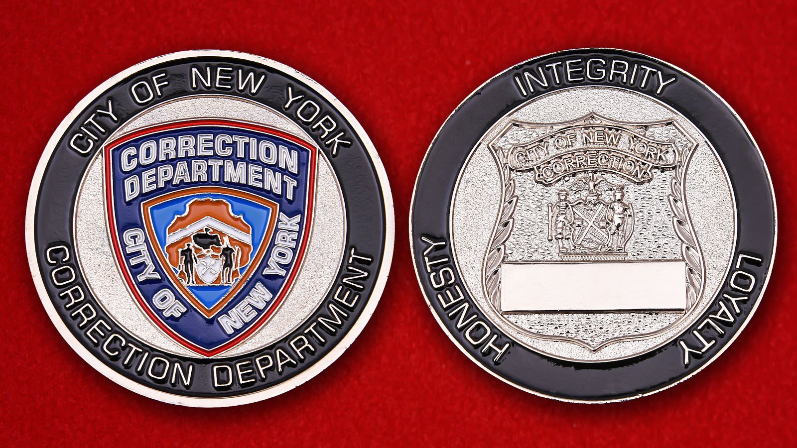 Challenge Coin Department of Corrections in New York City - obverse and reverse
