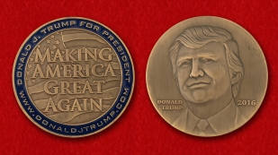"Challenge Coin ""Donald Trump"" - obverse and reverse"