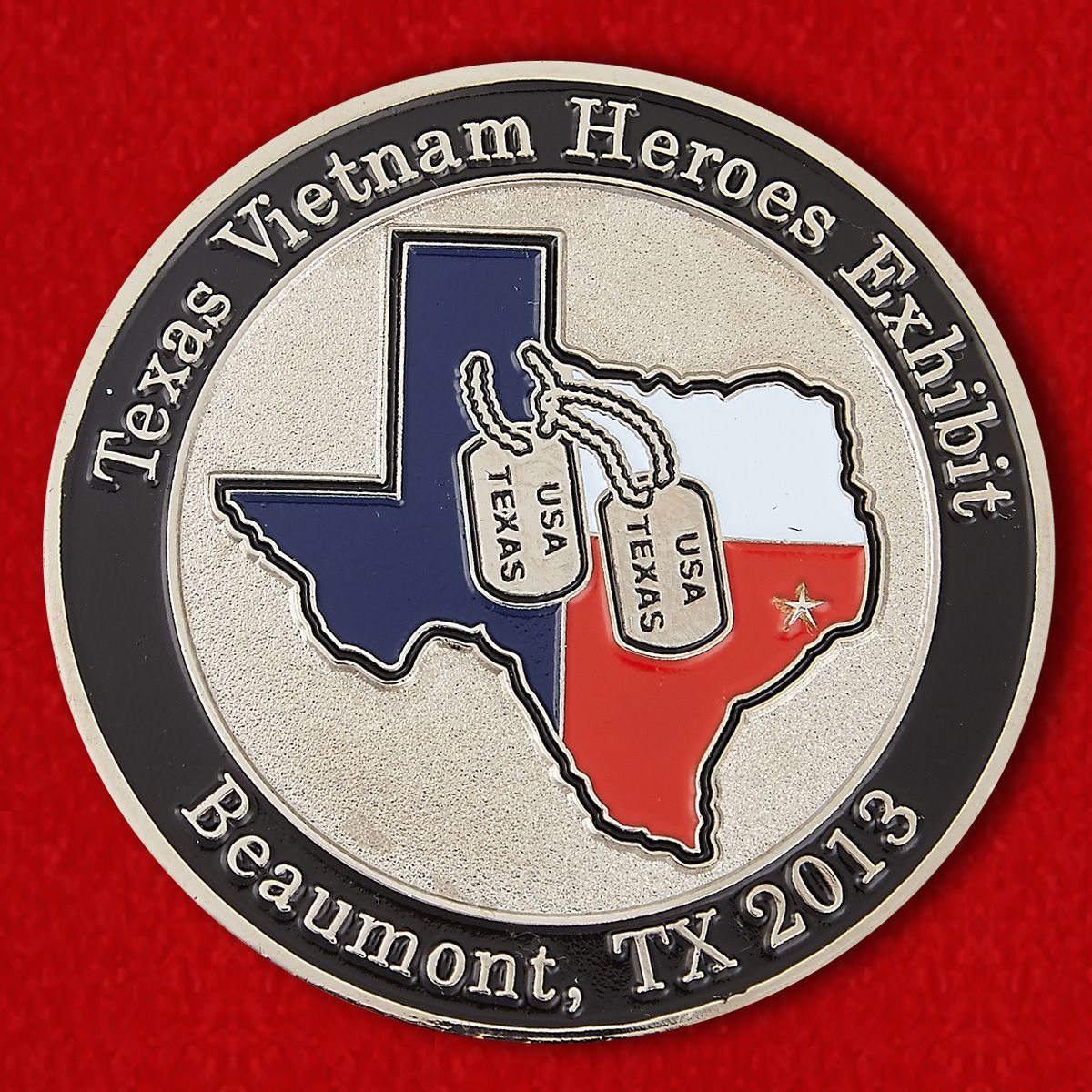 "Challenge Coin ""Exhibition heroes of Vietnam in Beau mont, Texas"""