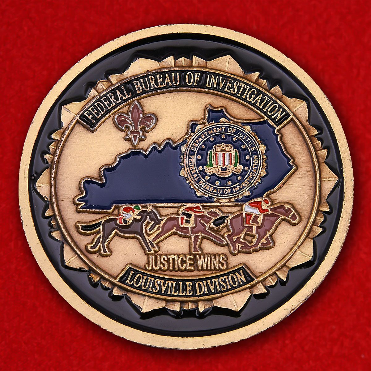 Challenge coin FBI in Louisville
