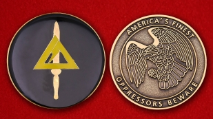 Challenge coin FBI in Louisville - obverse and reverse