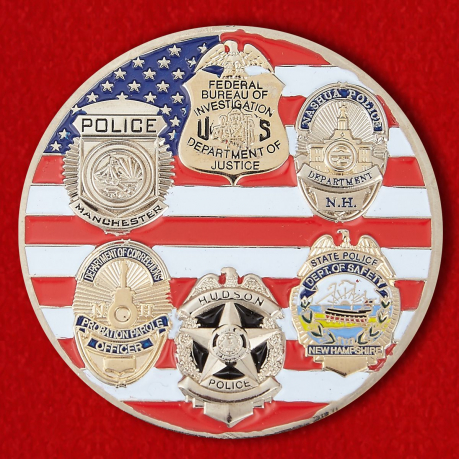 Challenge coin FBI Task Force in New Hampshire