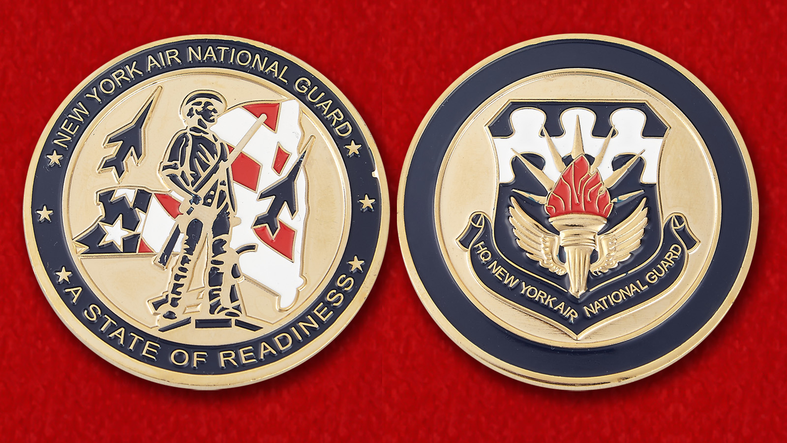 "Challenge Coin ""New York AIR National Guard"" - obverse and reverse"