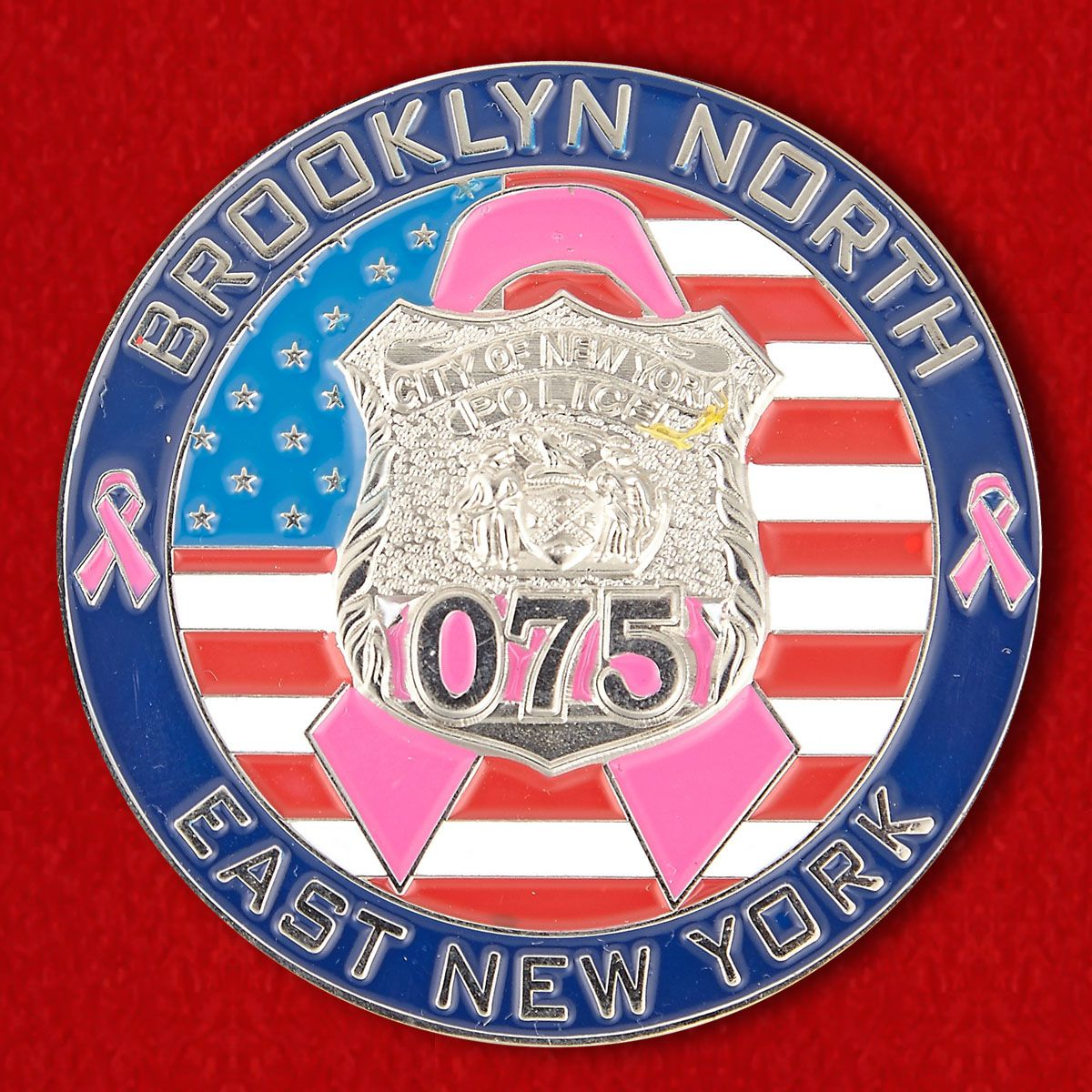 Challenge coin of the 75th Police Station (North Brooklyn)