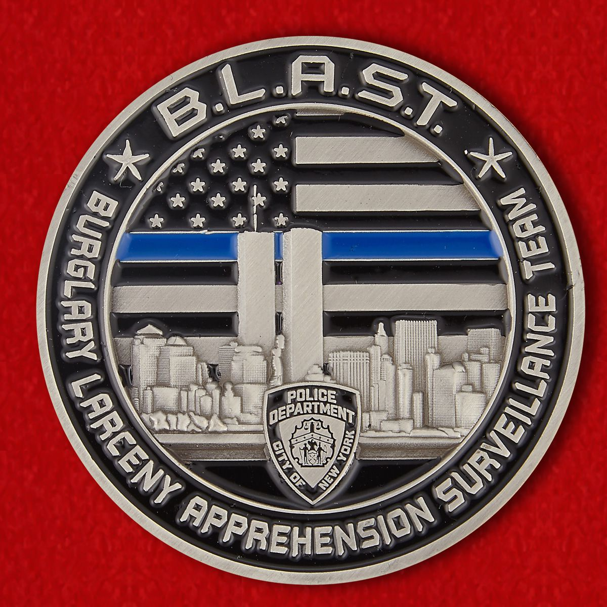 Challenge coin of the anti-theft New York City Police Department
