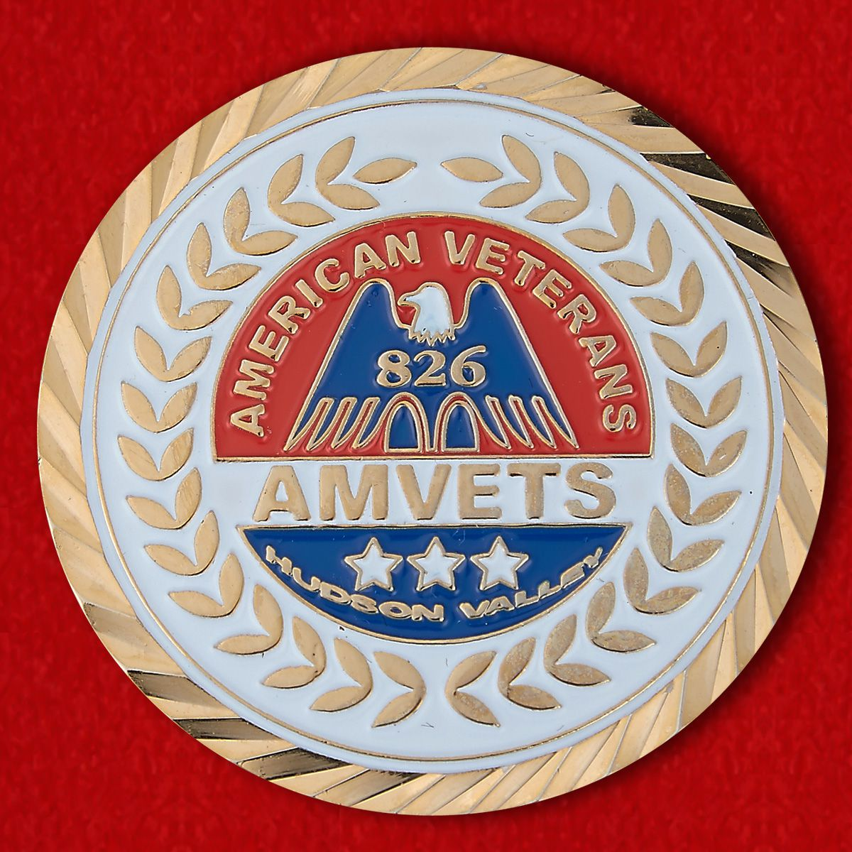 Challenge coin of the Union of American veterans of World War II