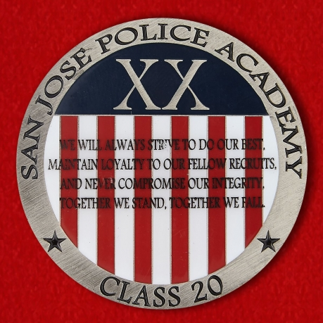 Challenge coin Police Academy in San Jose