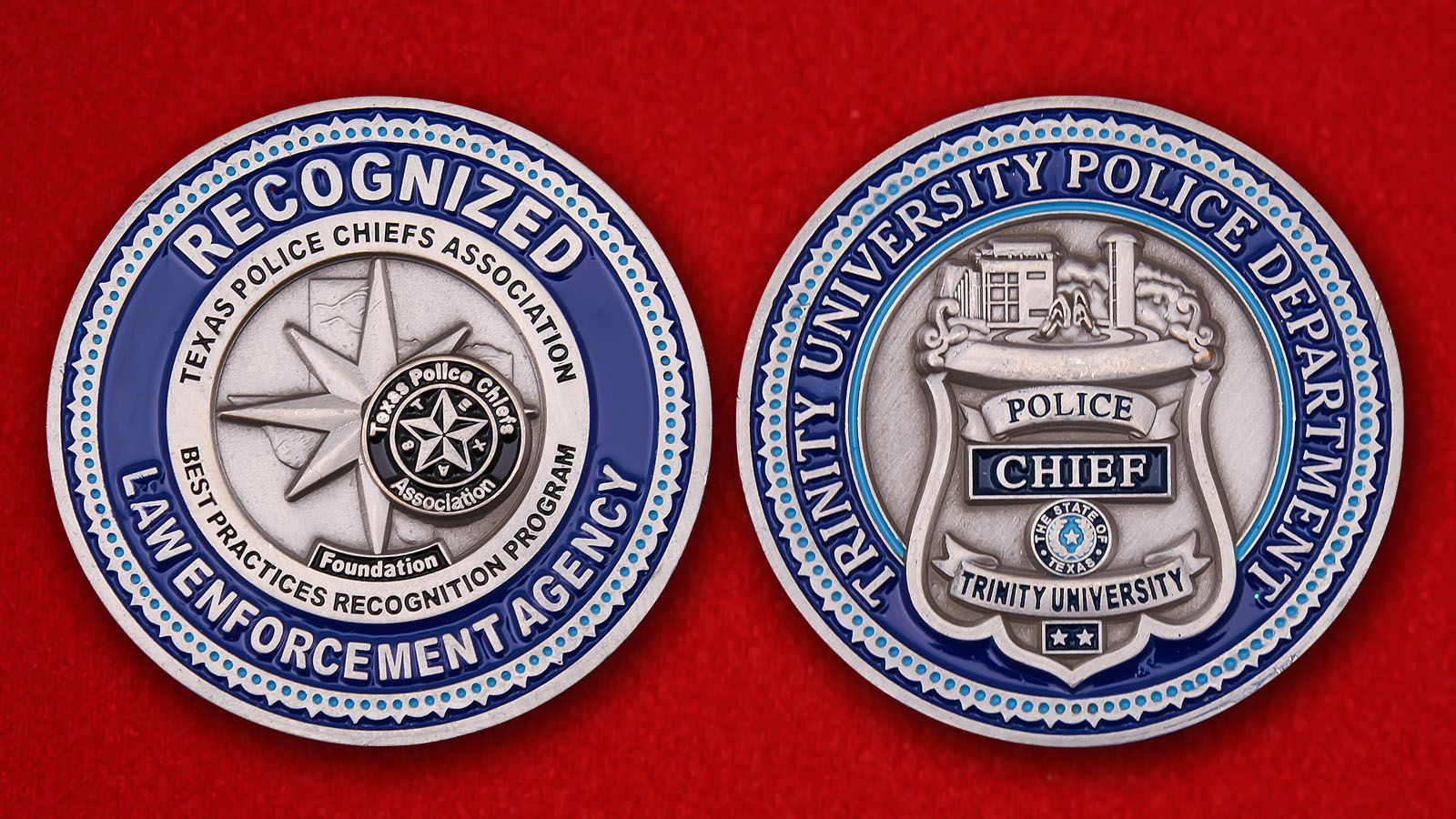 Challenge Coin Рolice Сhief of the Trinity University - obverse and reverse