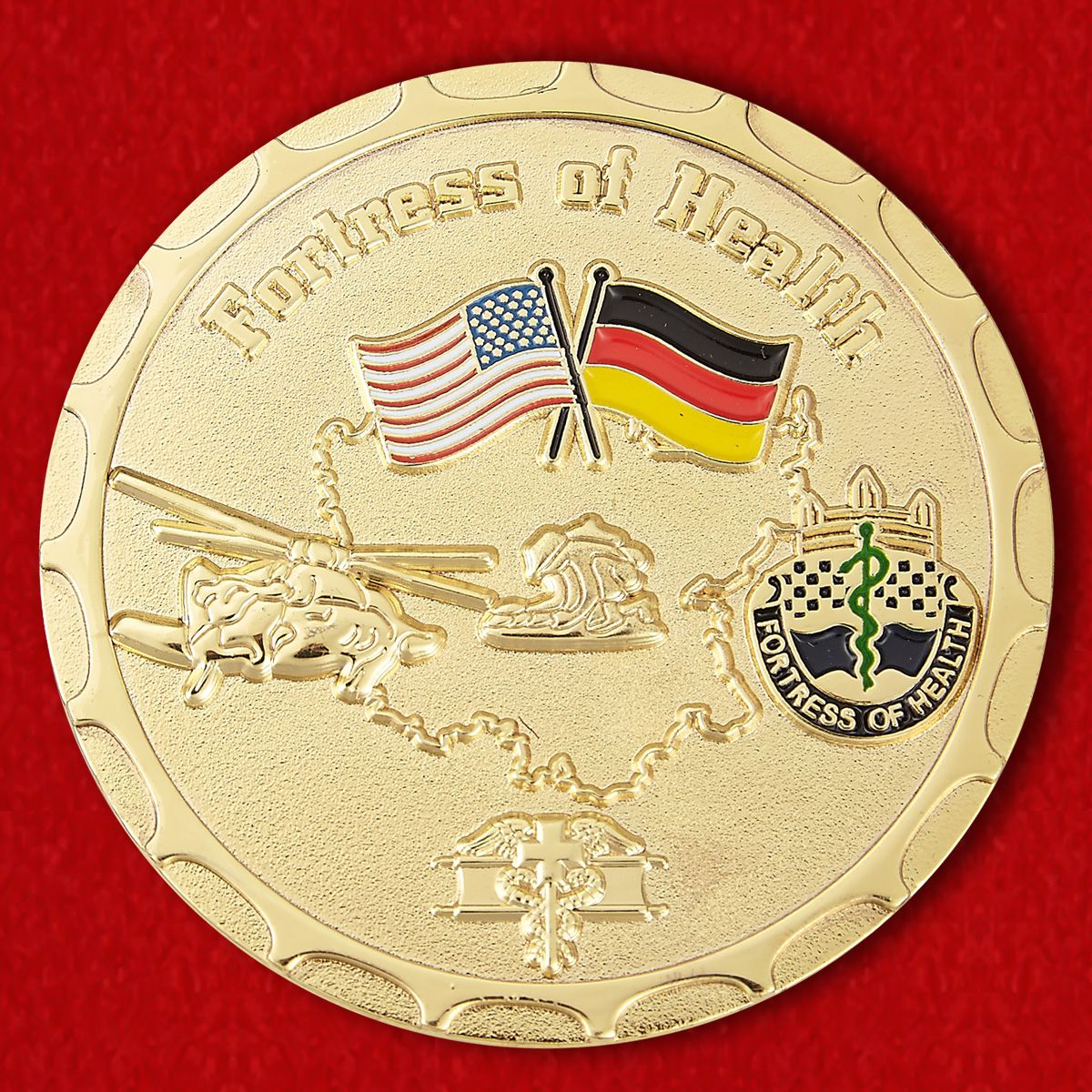 "Challenge Coin ""Сlinic staff of the US Army in Ansbach from the command"""