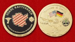 "Challenge Coin ""Сlinic staff of the US Army in Ansbach from the command"" - obverse and reverse"
