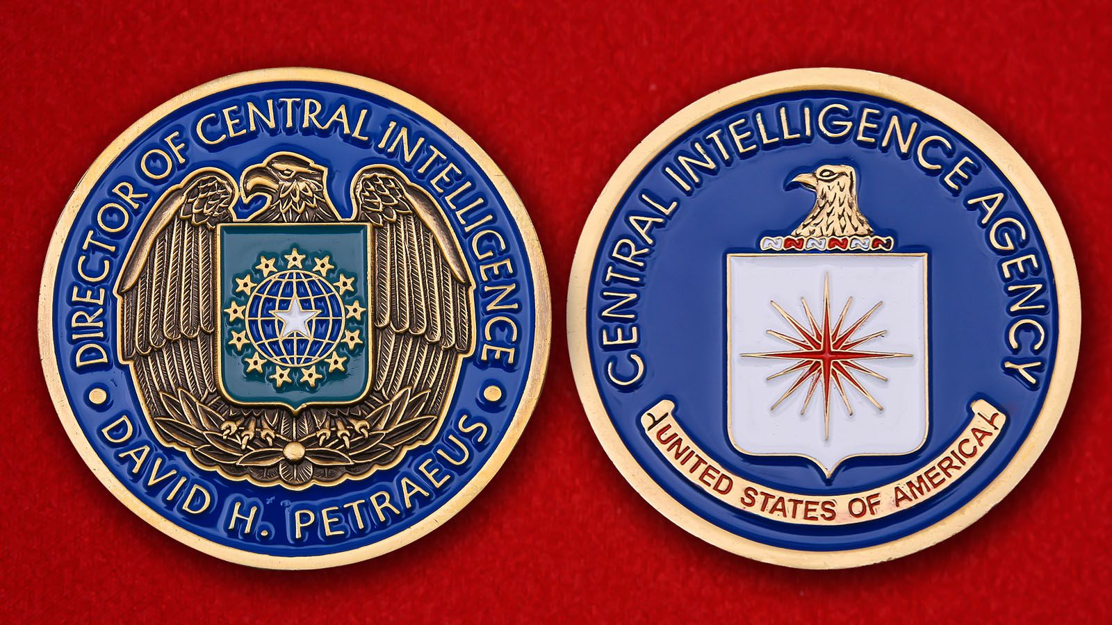 "Challenge Coin ""CIA Director David H. Petraeus"" - obverse and reverse"