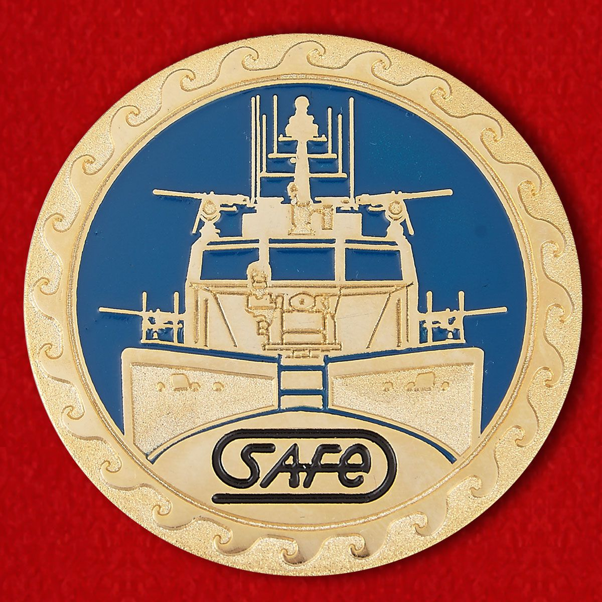 "Challenge Coin ""US Navy patrol boat Mark VI"""