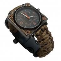 Часы для выживания с паракордовым браслетом EMAK S-431