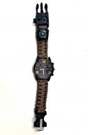 Часы тактические коричневый браслет из паракорда